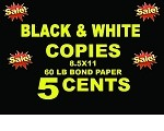 black and white copies - 60lb bond (COPY)