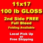 500, 11x17 100lb gloss text, 2nd side printed free